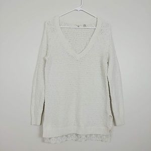 Anthropologie Knitted & Knotted Lace Sweater #3708